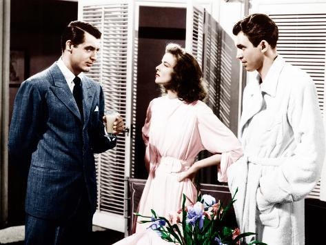 The Philadelphia Story, Cary Grant, Katharine Hepburn, James Stewart, 1940 Photo