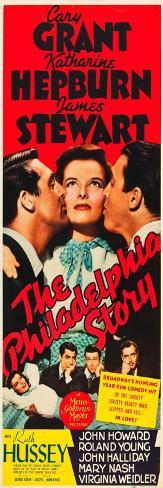 The Philadelphia Story, Cary Grant, Katharine Hepburn, James Stewart, 1940 Art Print