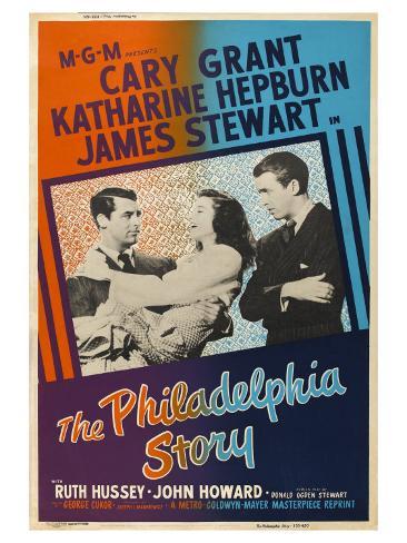 The Philadelphia Story, UK Movie Poster, 1940 Art Print