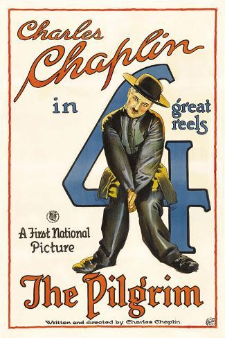 The Pilgrim Movie Charlie Chaplin Poster Print Poster