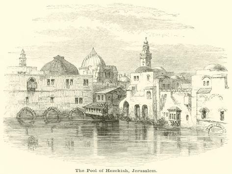 The Pool of Hezekiah, Jerusalem Lámina giclée