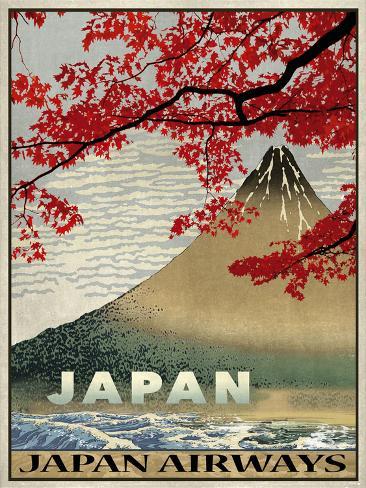Vintage Travel Japan Giclée-vedos