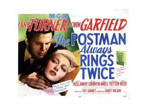 The Postman Always Rings Twice, Lana Turner, John Garfield, 1946 Gicléetryck