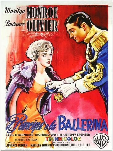 The Prince and the Showgirl, Italian Movie Poster, 1957 Art Print