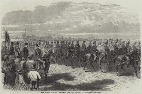 The Prince of Wales Inspecting the 11th Hussars at Colchester Giclee Print