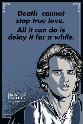 The Princess Bride - Death Cannot Stop True Love (Westley) Art Print