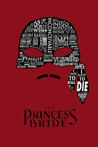 The Princess Bride Mask Art Print