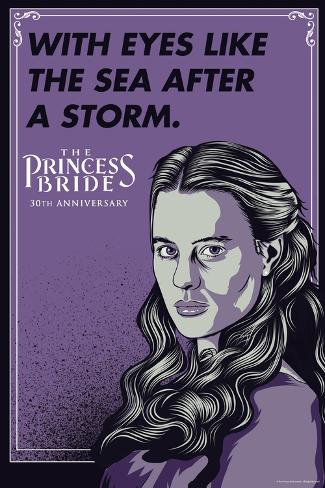 The Princess Bride - With Eyes Like The Sea After A Storm (Buttercup) Poster