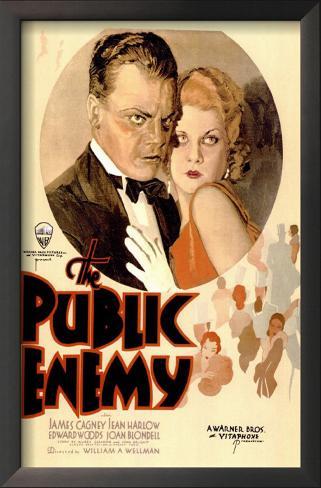 The Public Enemy Impressão artística emoldurada