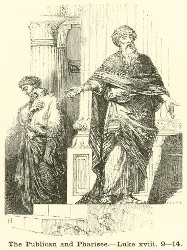 The Publican and Pharisee, Luke, XVIII, 9, 14 Lámina giclée