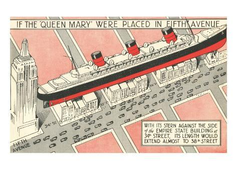 The Queen Mary on Fifth Avenue Art Print