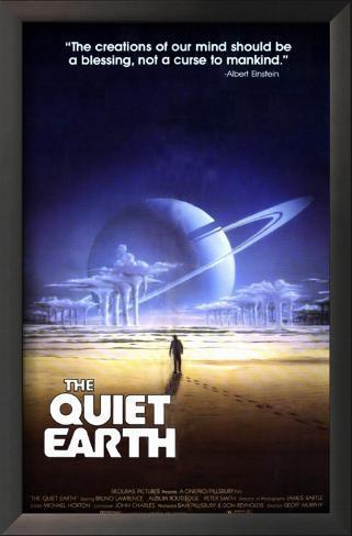 The Quiet Earth Impressão artística emoldurada