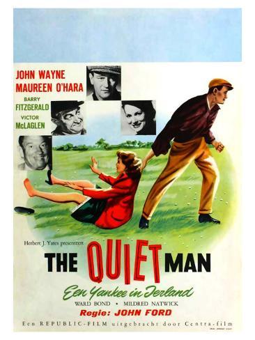 The Quiet Man, German Movie Poster, 1952 Art Print