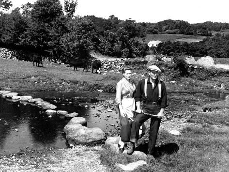The Quiet Man, Maureen O'Hara, John Wayne, 1952 写真