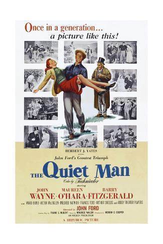 The Quiet Man, Maureen O'Hara, John Wayne, Barry Fitzgerald, 1952 Art Print