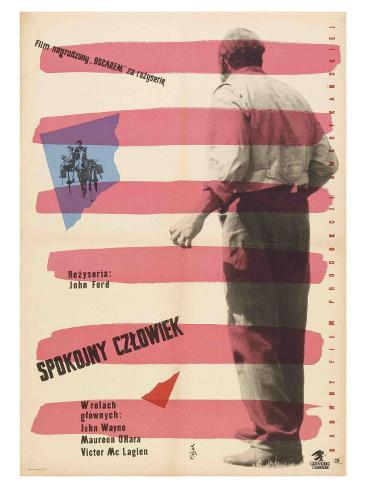 The Quiet Man, Polish Movie Poster, 1952 アートプリント