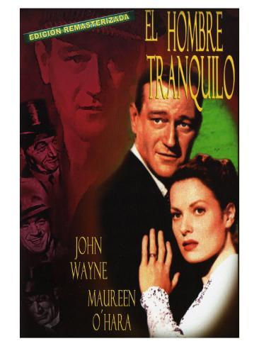 The Quiet Man, Spanish Movie Poster, 1952 Art Print