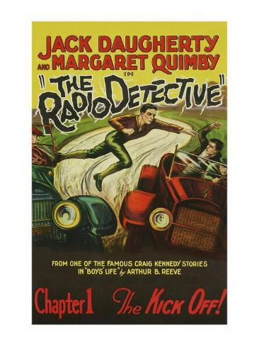 The Radio Detective Art Print