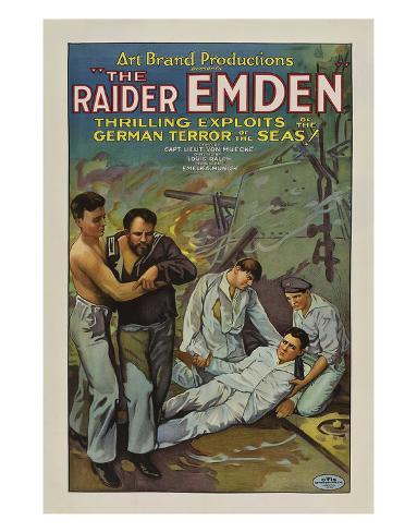 The Raider Emden - 1928 Impressão giclée