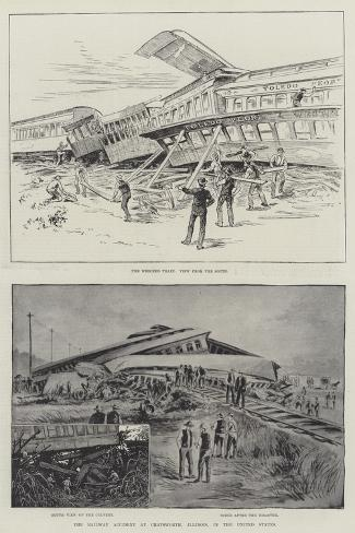 The Railway Accident at Chatsworth, Illinois, in the United States Giclee Print