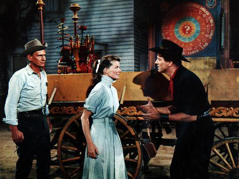 The Rainmaker, Wendell Corey, Katharine Hepburn, Burt Lancaster, 1956 Stretched Canvas Print