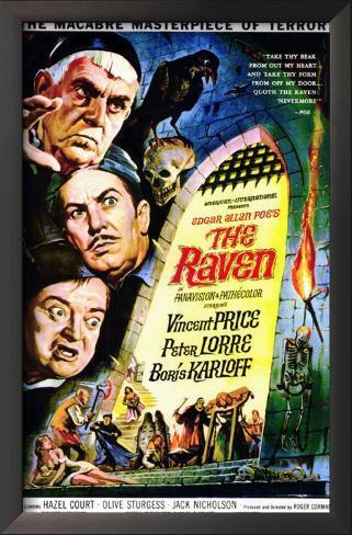 The Raven 額入りアートプリント