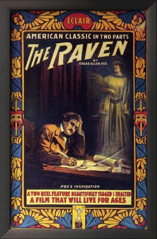 The Raven Impressão artística emoldurada
