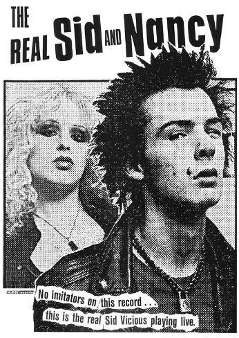 The Real Sid & Nancy (Faces, B&W) Poster
