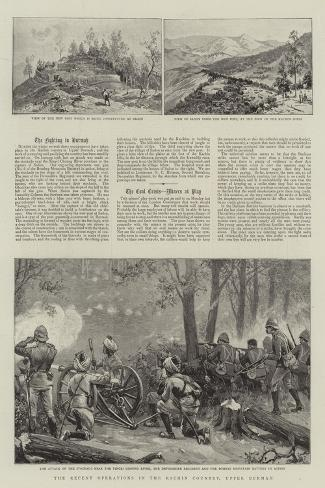 The Recent Operations in the Kachin Country, Upper Burmah Giclee Print