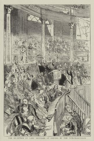 The Reception of Lady Dufferin at Oxford by the Vice-Chancellor Giclee Print