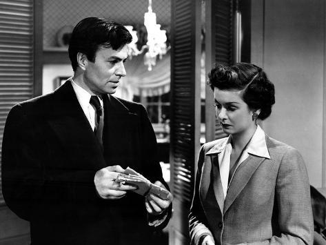 The Reckless Moment, James Mason, Joan Bennett, 1949 Stretched Canvas Print