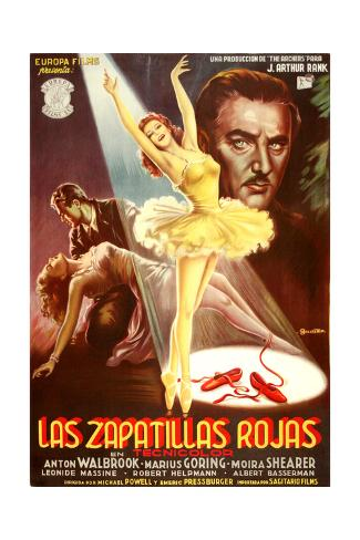 The Red Shoes, (aka Las Zapatillas Rojas), Moira Shearer, Anton Walbrook, 1948 Giclee Print