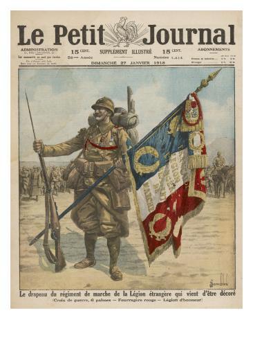 The Regiment de Marche of the Legion Etrangere is Honored Lámina giclée