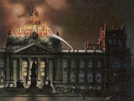 The Reichstag Destroyed by Fire Photographic Print