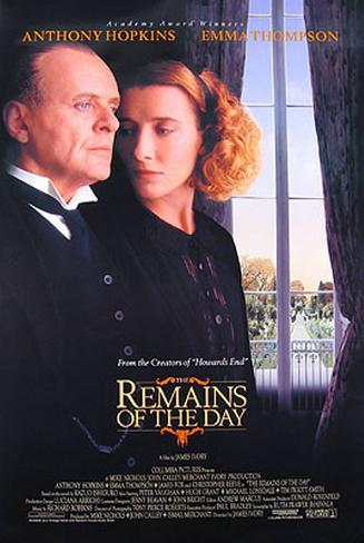 The Remains Of The Day Double-sided poster