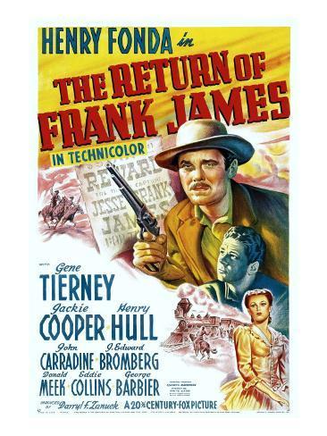 The Return of Frank James, Henry Fonda, 1940 Stretched Canvas Print