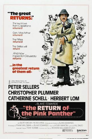 The Return of the Pink Panther, US poster, Peter Sellers, 1975 Art Print