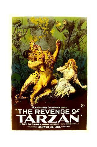 THE REVENGE OF TARZAN, from left: Gene Pollar, Karla Schramm, 1920 Art Print