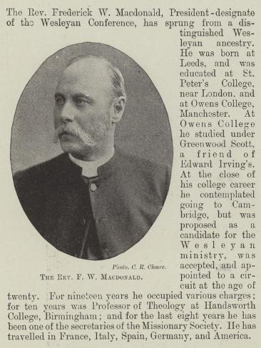 The Reverend F W Macdonald Lámina giclée