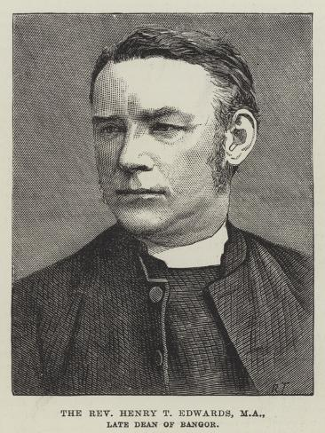 The Reverend Henry T Edwards, Ma, Late Dean of Bangor Lámina giclée