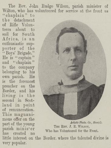 The Reverend J R Wilson, Who Has Volunteered for the Front Lámina giclée