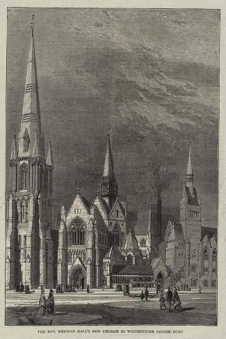 The Reverend Newman Hall's New Church in Westminster Bridge Road Giclee Print