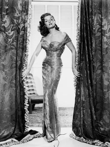 The Revolt of Mamie Stover, Jane Russell, in a Gown by William Travilla, 1956 Photo