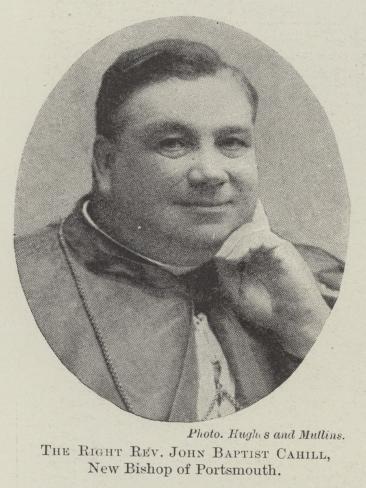 The Right Reverend John Baptist Cahill, New Bishop of Portsmouth Lámina giclée