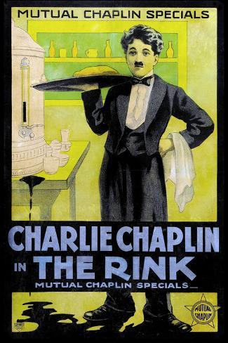 The Rink Movie Charlie Chaplin Poster Print Poster