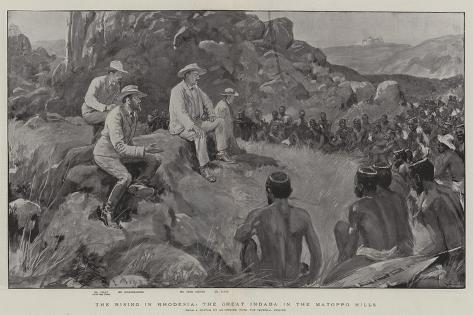 The Rising in Rhodesia, the Great Indaba in the Matoppo Hills Giclee Print