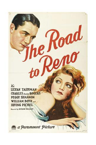 THE ROAD TO RENO, from top left: Charles 'Buddy' Rogers, Lilyan Tashman, 1931. Stretched Canvas Print