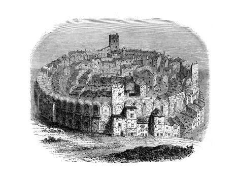 The Roman Arena in Arles, Provence, France, in 1666 (1882-188) Giclee Print