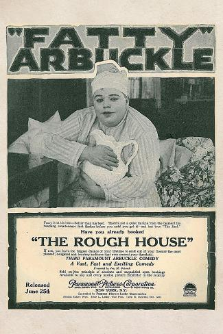The Rough House Movie Roscoe Fatty Arbukle Buster Keaton Poster Print Poster