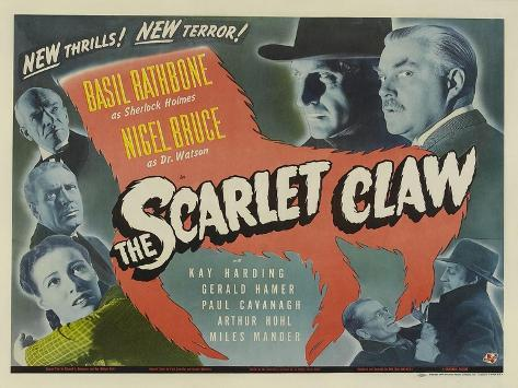 The Scarlet Claw, UK Movie Poster, 1944 Art Print